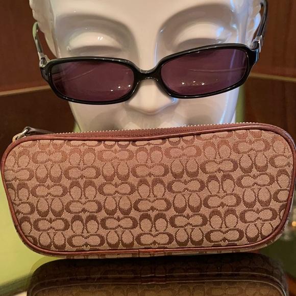 Coach monogram eyeglass case. Bonus eyeglasses too